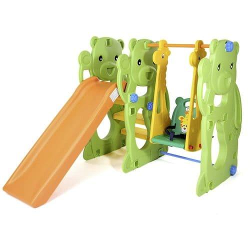 Schaukel mit Rutsche für Kinder Indoor und Outdoor.